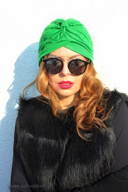 "Turban Dama ""Juka"" Verde by JukaFashion.ro (2018)"