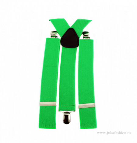 bretele unisex culoarea verde