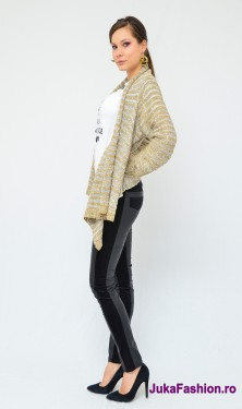 "Poze Cardigan "" Glam"" Cream by JukaFashion.ro cod 0123"