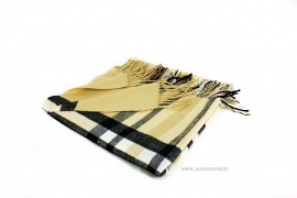 "Poze *Sal Esarfa Pashmina ""British"" Cream Edition by jukafashion.ro cod PRM3"