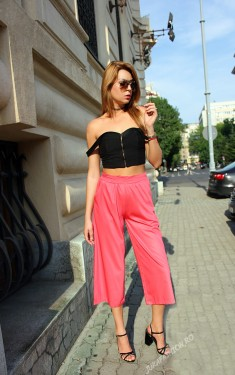 "Poze *Pantaloni Dama ""Summer Mood"" Fucsia  by JukaFashion.ro cod H66"