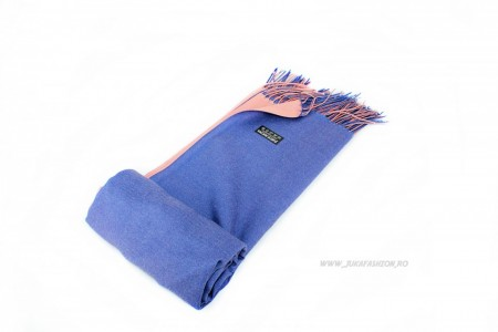 "*Sal Esarfa Pashmina ""Sedos"" Blue&Pink by jukafashion.ro (2018)"