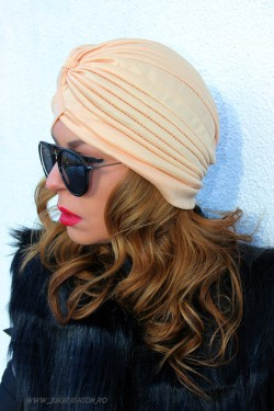 "Turban Dama ""Juka"" Nude by JukaFashion.ro (2018)"