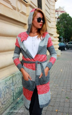 "*Cardigan ""Fluffy Love"" Grey by JukaFashion.ro cod F01"