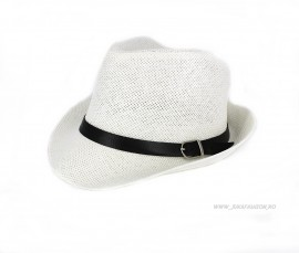 "*Palarie Barbat de Vara ""John"" White by JukaFashion.ro cod 022B"