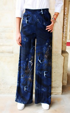 "Pantaloni Dama ""Denim"" by JukaFashion.ro cod B037"