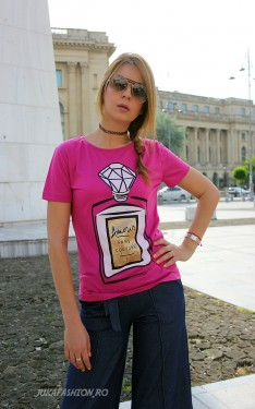 "Tricou ""Diamond"" Fucsia by JukaFashion.ro cod T6"