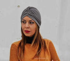 "Turban Dama ""Juka"" Grey by JukaFashion.ro cod 0099"