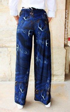 "Poze Pantaloni Dama ""Denim"" by JukaFashion.ro cod B037"
