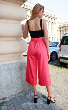 "*Pantaloni Dama ""Summer Mood"" Fucsia  by JukaFashion.ro cod H66"