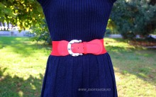"Curea Dama Elastic ""Diva"" Red by JukaFashion.ro cod CH3"