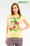 "OFERTA PROMO : Tricou "" Love "" by JukaFashion.ro cod 0091"