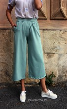 "*Pantaloni Dama ""Summer Mood"" Mint  by JukaFashion.ro cod H68"