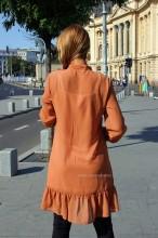 rochie midi dama femei volane
