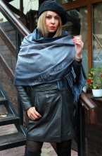 "*Sal Dama Casmir ""Degradee"" Dark Grey by jukafashion.ro"