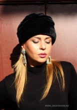 "*Turban Catifea Dama ""Velvet"" Black by JukaFashion.ro (2018)"
