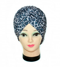 "Turban Femei ""Animal"" Bleu by JukaFashion.ro (2018)"