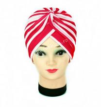 "Turban Femei ""Stripes"" Red&White by JukaFashion.ro cod 0095"