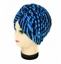"Turban Femei ""Zebra"" Bleu by jukafashion.ro"