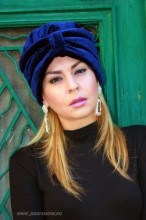 "*Turban Catifea Dama ""Velvet"" Marine by JukaFashion.ro (2018)"