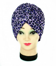 "Turban Femei ""Animal"" Purple by JukaFashion.ro (2018)"