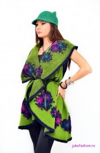 "Cardigan 'Russian Kiss"" Green Apple by JukaFashion.ro cod RUS1"