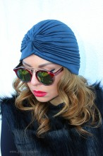 "Turban Dama ""Juka"" Petrol by JukaFashion.ro (2018)"