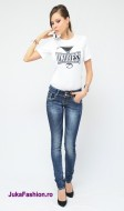 "Blugi Skinny Elastici ""Degradee"" by JukaFashion.ro cod 00204"