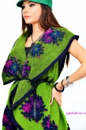 "OFERTA PROMO : Cardigan 'Russian Kiss"" Green Apple by JukaFashion.ro cod 01604"