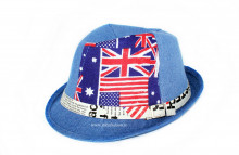 "*Palarie Copii Vara ""London"" Blue by jukafashion.ro"
