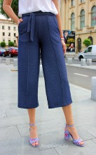 "Pantaloni Dama ""Summer Mood"" Denim  by JukaFashion.ro cod H67"