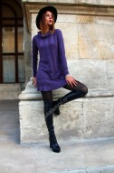 "Rochie  ""Mademoiselle"" Purple by JukaFashion.ro cod XC3"