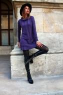 "Rochie  ""Mademoiselle"" Purple by JukaFashion.ro cod XC3"