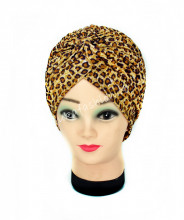 "Turban Femei ""Animal"" Yellow by JukaFashion.ro (2018)"