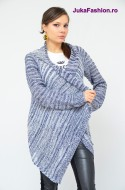 "Cardigan "" Glam"" Blue by JukaFashion.ro cod 0122"