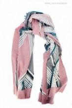 "*Esarfa PREMIUM ""Stripes"" Pink by jukafashion.ro (2018)"