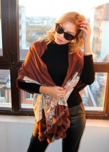 "*Sal Esarfa Pashmina ""Bloom"" Maroon by jukafashion.ro (2018)"