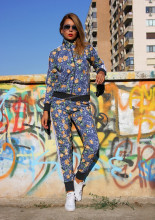 "Trening Dama ""Flower Bomb"" Blue by jukafashion.ro (2020)"