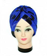 "Turban Dama ""Bubbles"" Bleu & Black by jukafashion.ro"