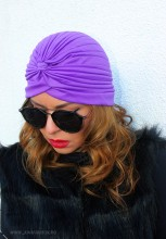 "Turban Dama ""Juka"" Violet by JukaFashion.ro (2018)"