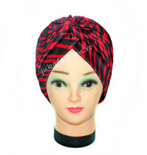 "Turban Dama ""Zebra"" Burgundy by jukafashion.ro"