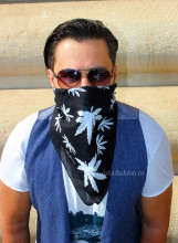 "Bandana Unisex ""Noir"" by jukafashion"
