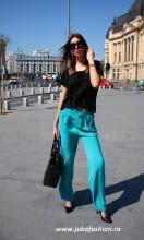 pantaloni dama conici stofa clasic bumbac femei
