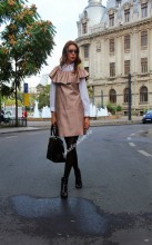 "Rochie Sarafan ""Selenika"" Rose Quartz by JukaFashion.ro cod BH8"