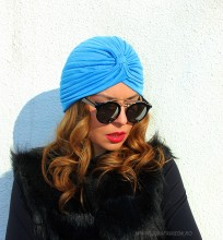 "Turban Dama ""Juka"" Blue by JukaFashion.ro (2018)"