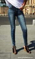 "Blugi Skinny Elastici ""Snow"" by JukaFashion.ro cod B2014"