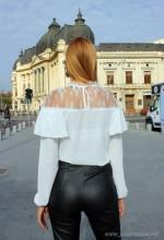 bluza office pulover dama dantela