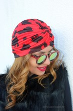 "Turban Dama ""Juka"" Red&Black by JukaFashion.ro (2018)"
