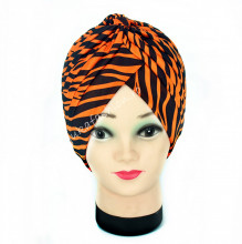 "Turban Dama ""Zebra"" Orange by jukafashion.ro"