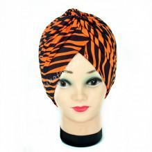 "Turban Femei ""Zebra"" Orange by jukafashion.ro"